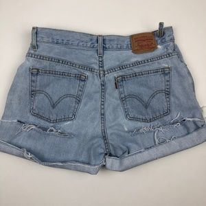 Levi's Shorts - Levi's Classic Double Butt Ripped Jean Shorts